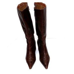 Brown/Burgundy Calf high Boot (vintage)